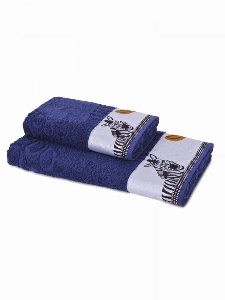 Полотенце махровое Африка (синее) (50х90) полотенца philippus полотенце laura 50х90 см 6 шт