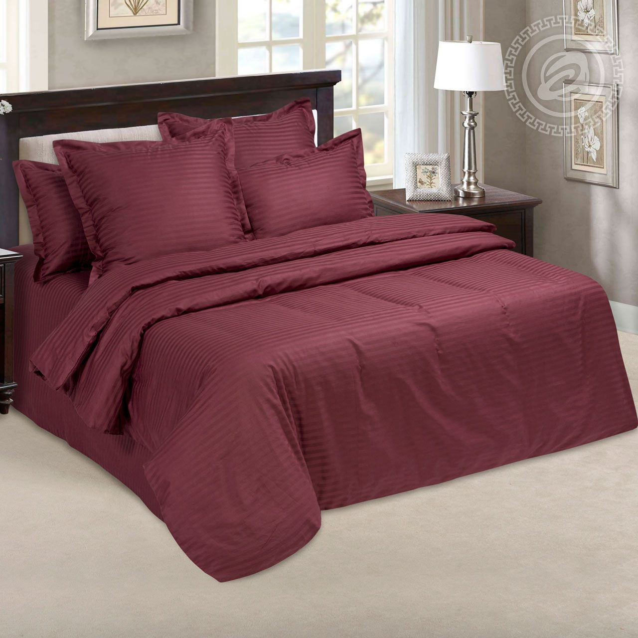 Постельное белье Бордо (страйп-сатин) (1,5 спальный) постельное белье пузыри сатин 1 5 спальный