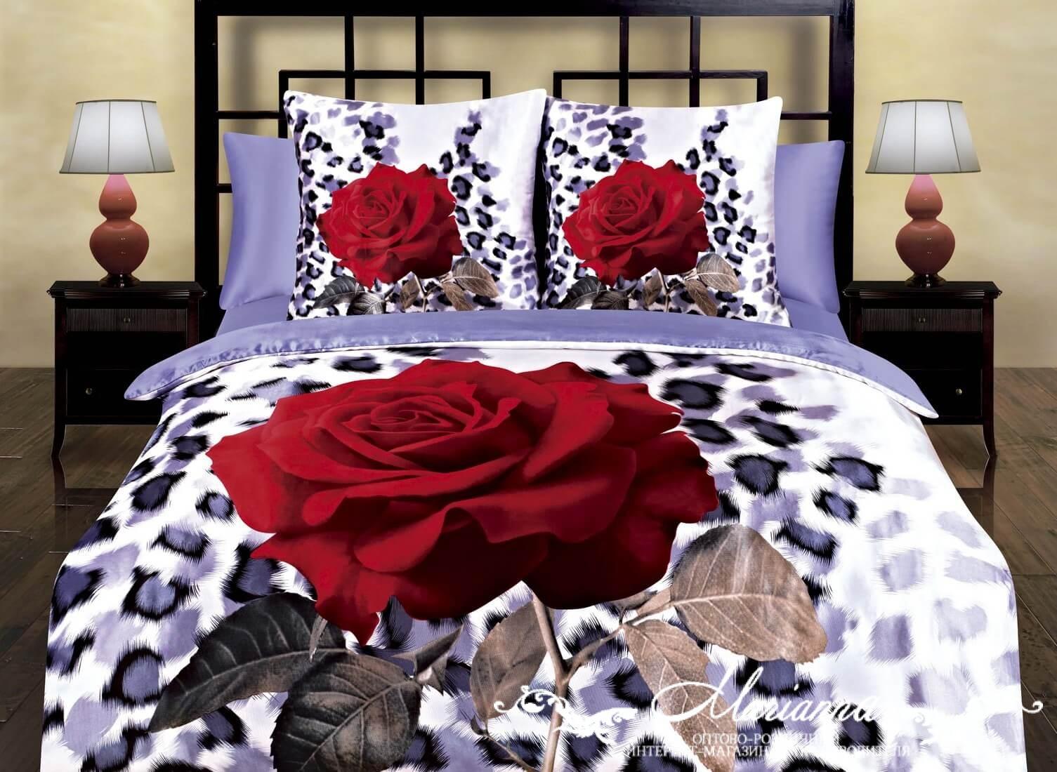 """Постельное белье """"Элегант"""" 3D (шелк) (Евро-1) постельное белье diva afrodita premium 3d pr 346 евро стандарт"""