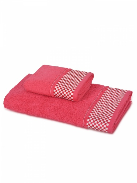 Полотенце махровое Шашки (розовое) (50х90) antik полотенце 50х90 хлопок