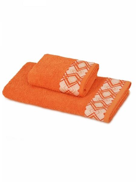 Полотенце махровое Ромбы (оранжевое) (50х90) полотенца philippus полотенце laura 50х90 см 6 шт
