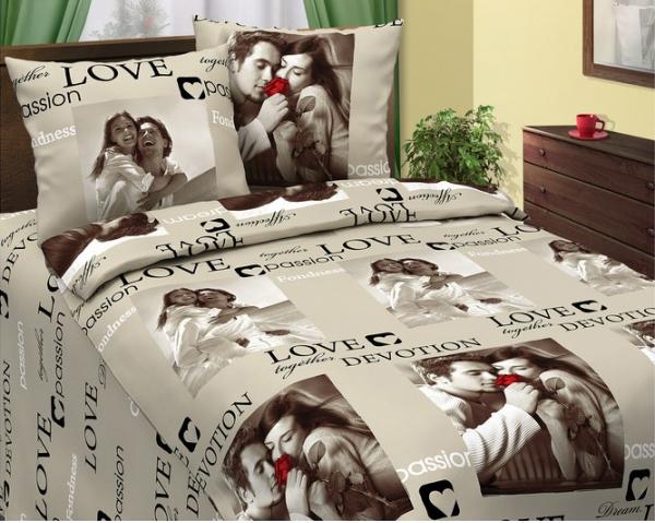 Постельное белье Сладкая парочка бежевая (бязь) (1,5 спальный) туссамаг капли 20мл