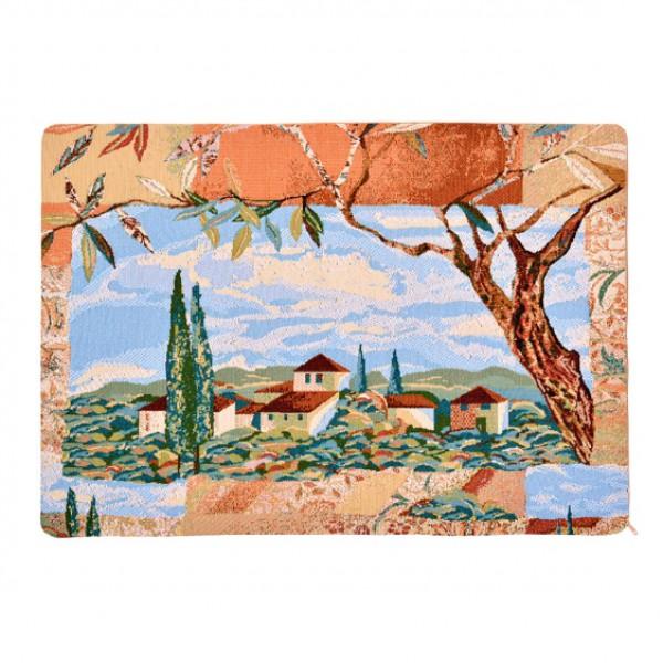 Наволочка декоративная Пейзаж с кипарисами (50*70) ночи под кипарисами
