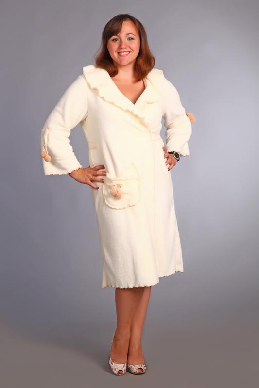 Халат женский #Пушок#, Размер: 46 - Халаты - Теплые халаты
