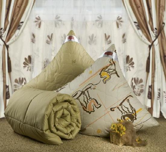 """Одеяло зимнее """"Ночь"""" (верблюжья шерсть, тик) Евро-1 (200*220)"""