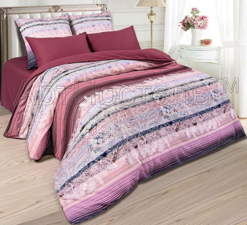 Постельное белье Валентино (велюр) (2 спальный с Евро простынёй)
