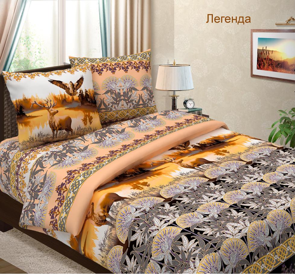 """Постельное белье """"Легенда"""" (бязь) 2 спальный с Евро простынёй"""