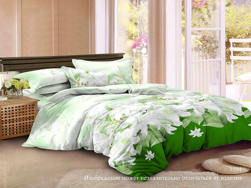 Постельное белье Росинка (полисатин) (1,5 спальный) постельное белье cleo кпб полисатин 246 1 5 спальный