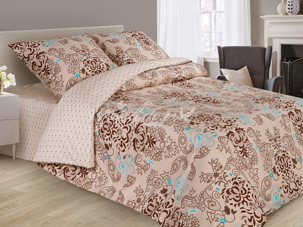 Постельное белье Шафран (сатин) (1,5 спальный) постельное белье cleo кпб сатин набивной люкс дизайн 355 1 5 спальный