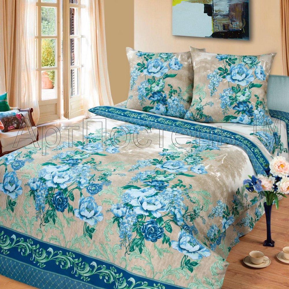Постельное белье Синий гобелен (бязь) (2 спальный) постельное белье гербарий бежевый gs бязь 2 спальный
