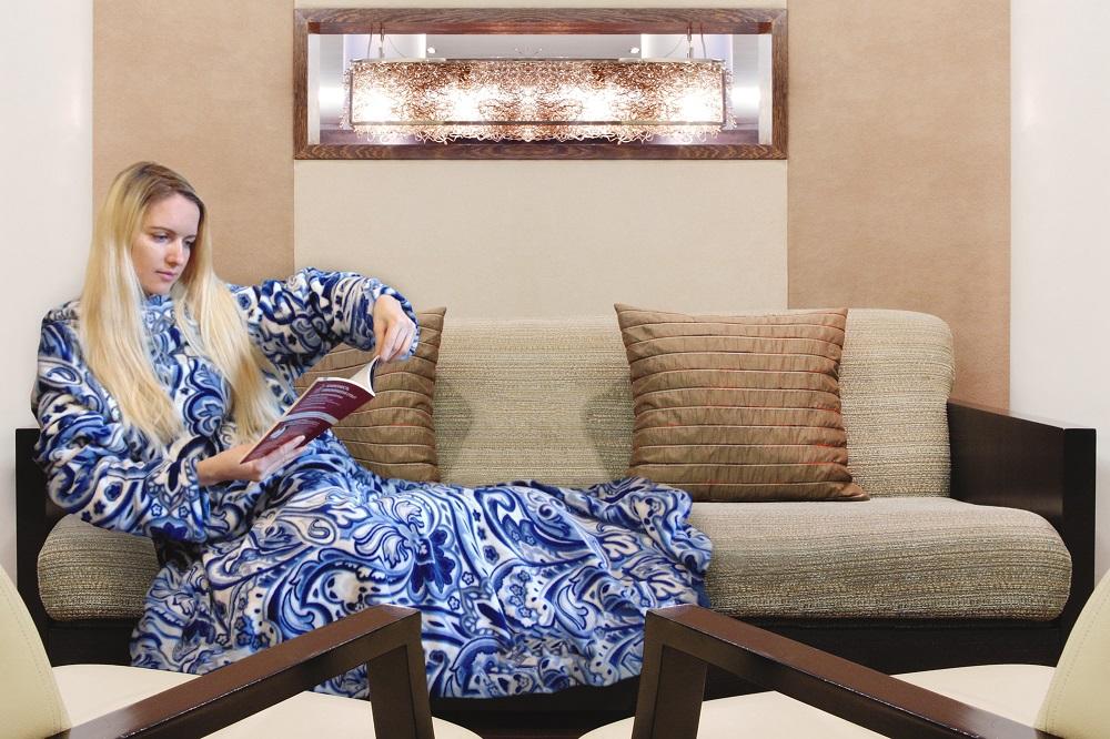 Плед с рукавами Персидский кипарис (велсофт) (140х180) bh скатерть orlando 140х180 см 8 180org