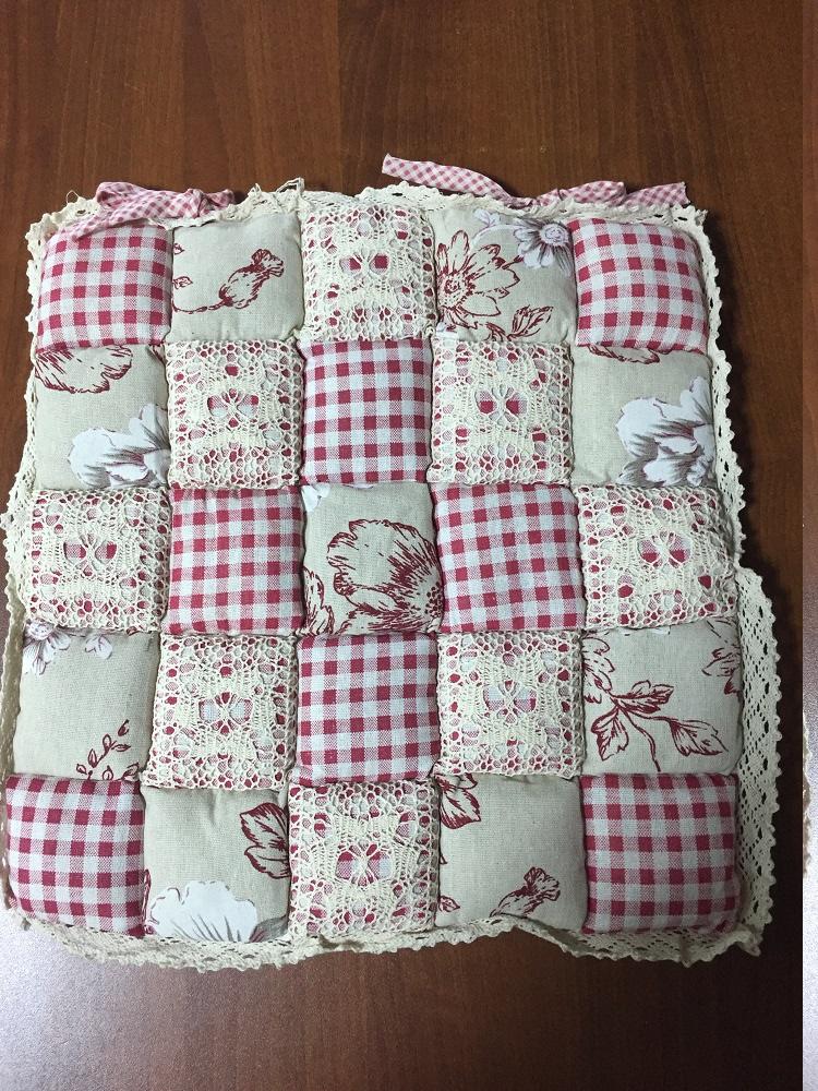 Подушка для стульев Винтаж (розовый в клетку) (40*40) подушка для стульев комфорт 40 40