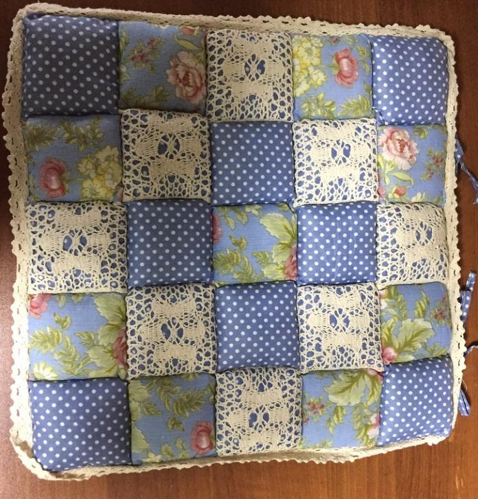 Подушка для стульев Винтаж (голубой) (40*40) lavera 40