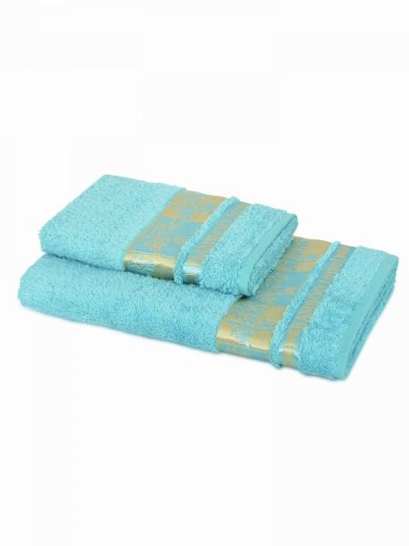 Бамбуковое полотенце Голд (голубое) (50х90) antik полотенце 50х90 хлопок