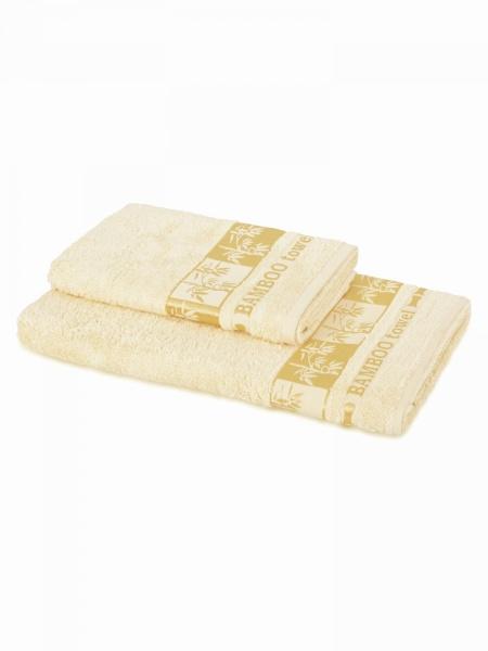 Бамбуковое полотенце Голд (кремовое) (50х90) antik полотенце 50х90 хлопок