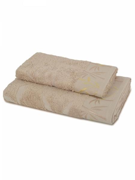 Бамбуковое полотенце Дерево (бежевое) (70х130) сирень classik б 50х90 70х130 в коробке набор полотенец фиеста