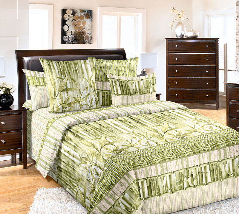 Постельное белье Бамбук (перкаль) (2 спальный) постельное белье альба перкаль 2 спальный