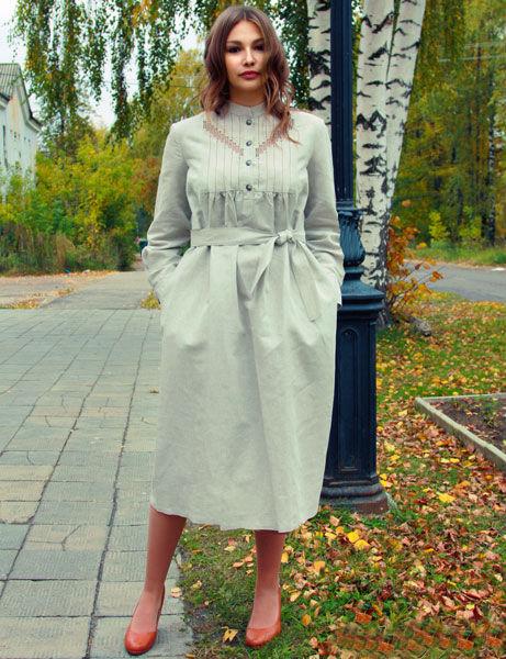 Льняное платье Марки