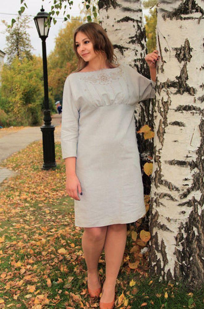 Льняное платье Марсия
