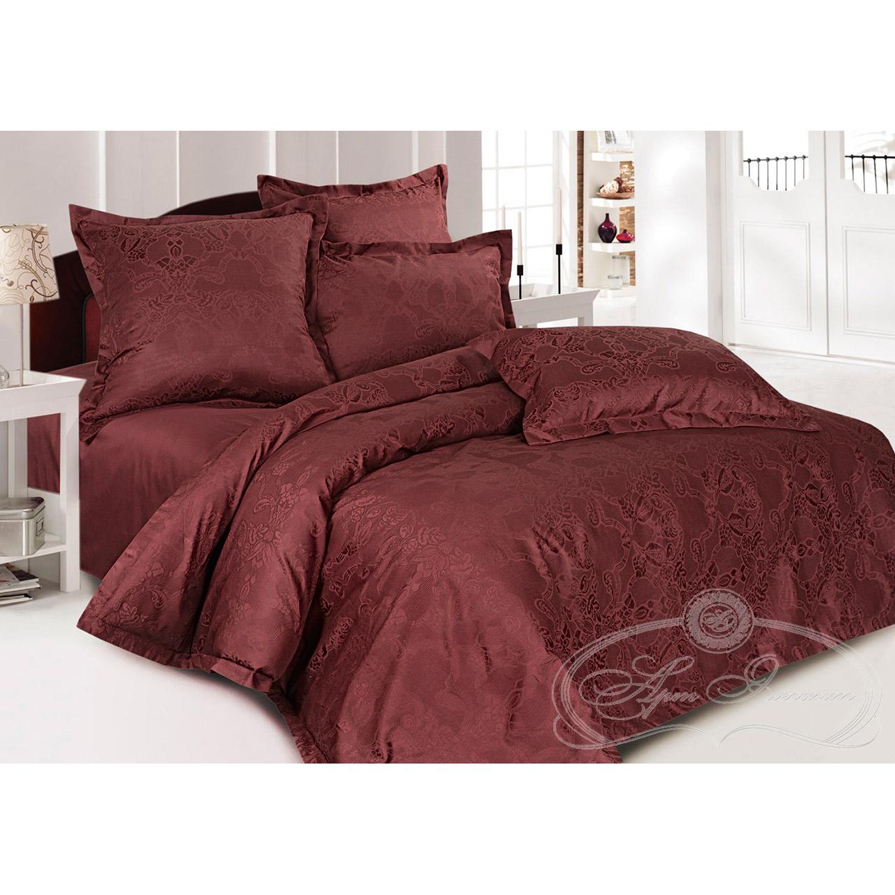 Постельное белье Миледи шоколад (сатин-жаккард) (2 спальный с Евро простынёй) постельное белье спаленка кпб сатин премиум евро 2 1