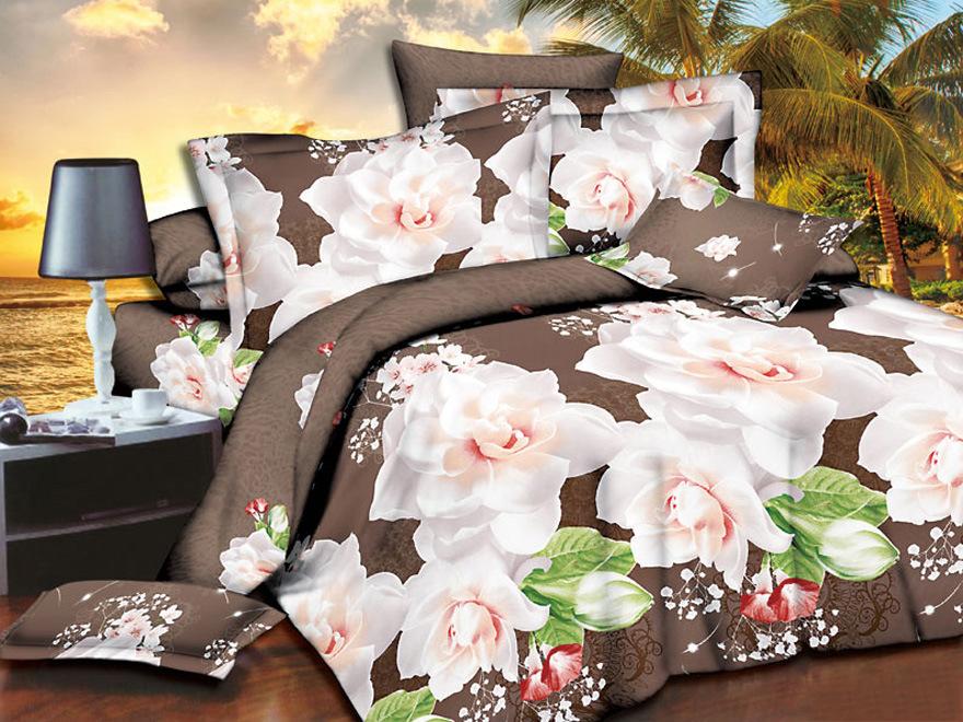 Постельное белье Марьюшка 3D (полисатин) (1,5 спальный) постельное белье эго комплект 1 5 спальный полисатин