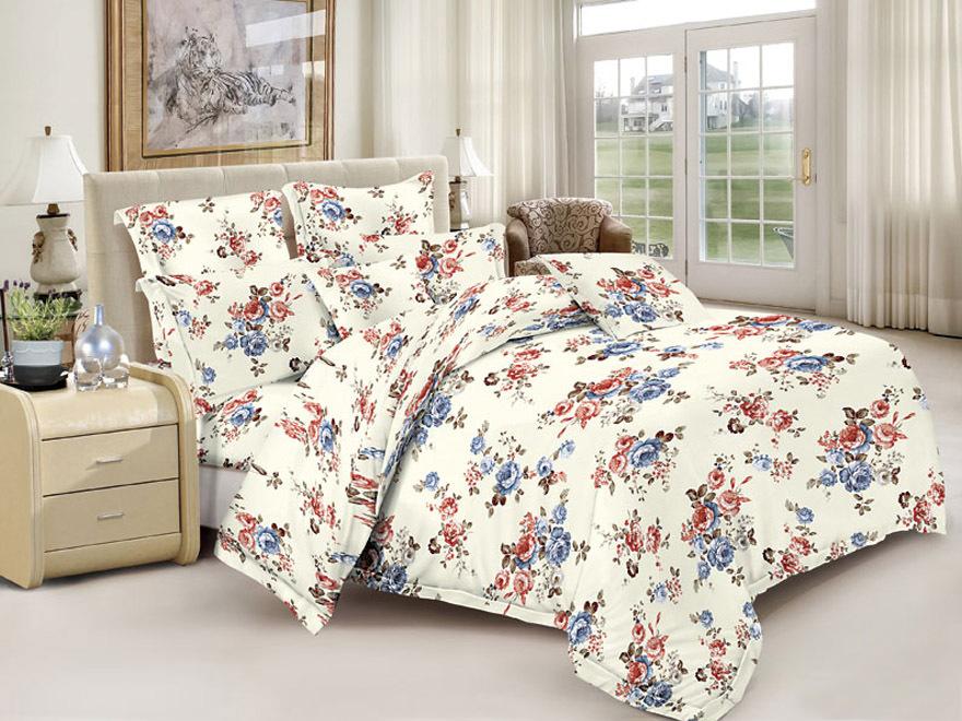 Постельное белье Мальвина (полисатин) (1,5 спальный) постельное белье эго комплект 1 5 спальный полисатин