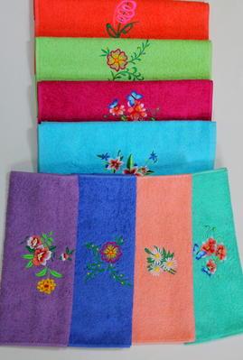 Полотенце махровое Цветочки (40х70) марина шульц крайон эль мория монада и днк