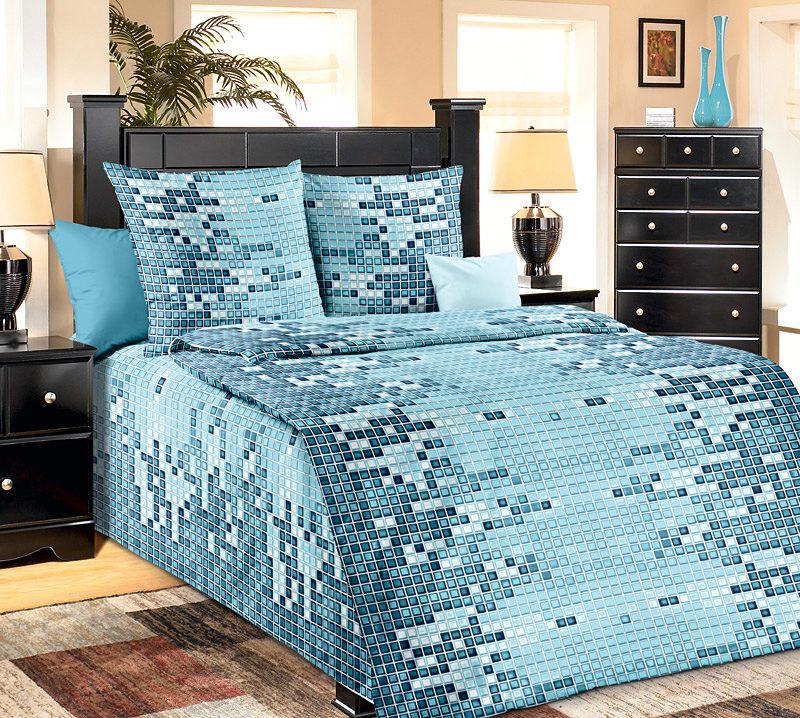Постельное белье Арбат голубой (бязь) (1,5 спальный)