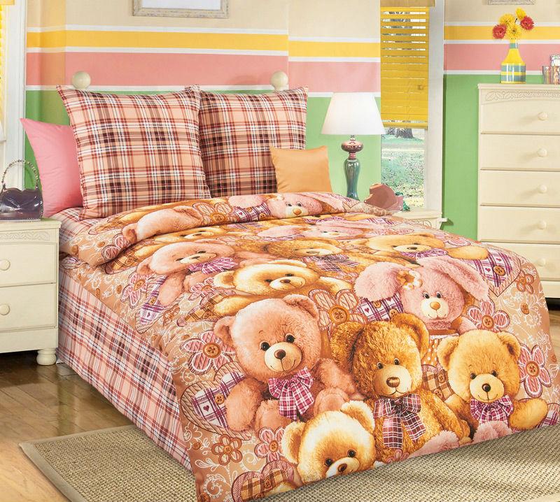 Постельное белье Мишкины друзья (бязь) (1,5 спальный) постельное белье жаркое лето бязь 1 5 спальный