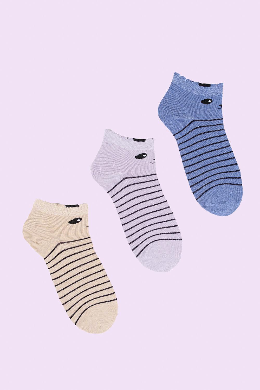 Носки детские Куки (упаковка 3 пары) (22-24) носки детские гранд цвет серый 2 пары tcl8 размер 22 24