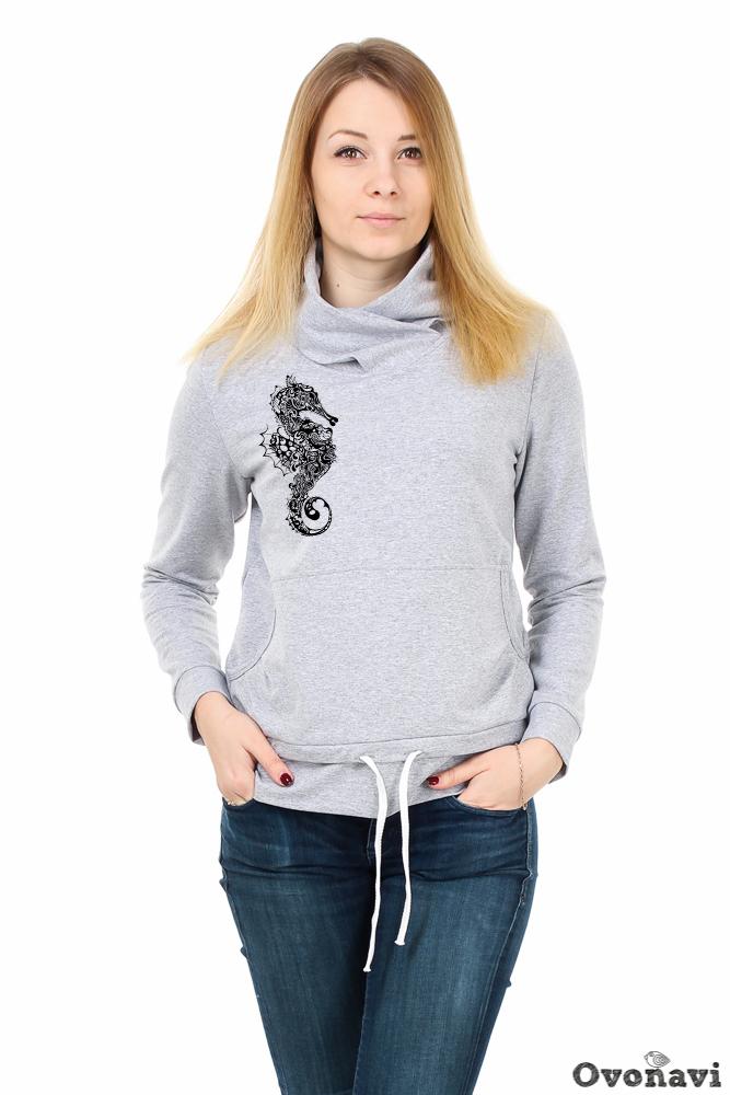 Толстовка женская Селена (принт: морской конек) бриджи женские аклахома принт морской конек
