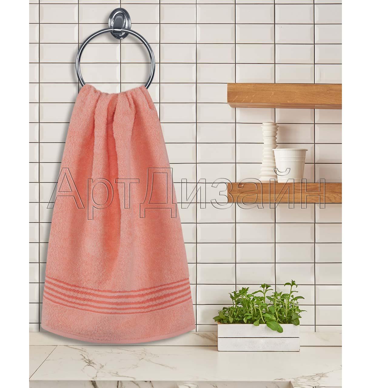 Полотенце махровое Классик розово-персиковый (40х70)
