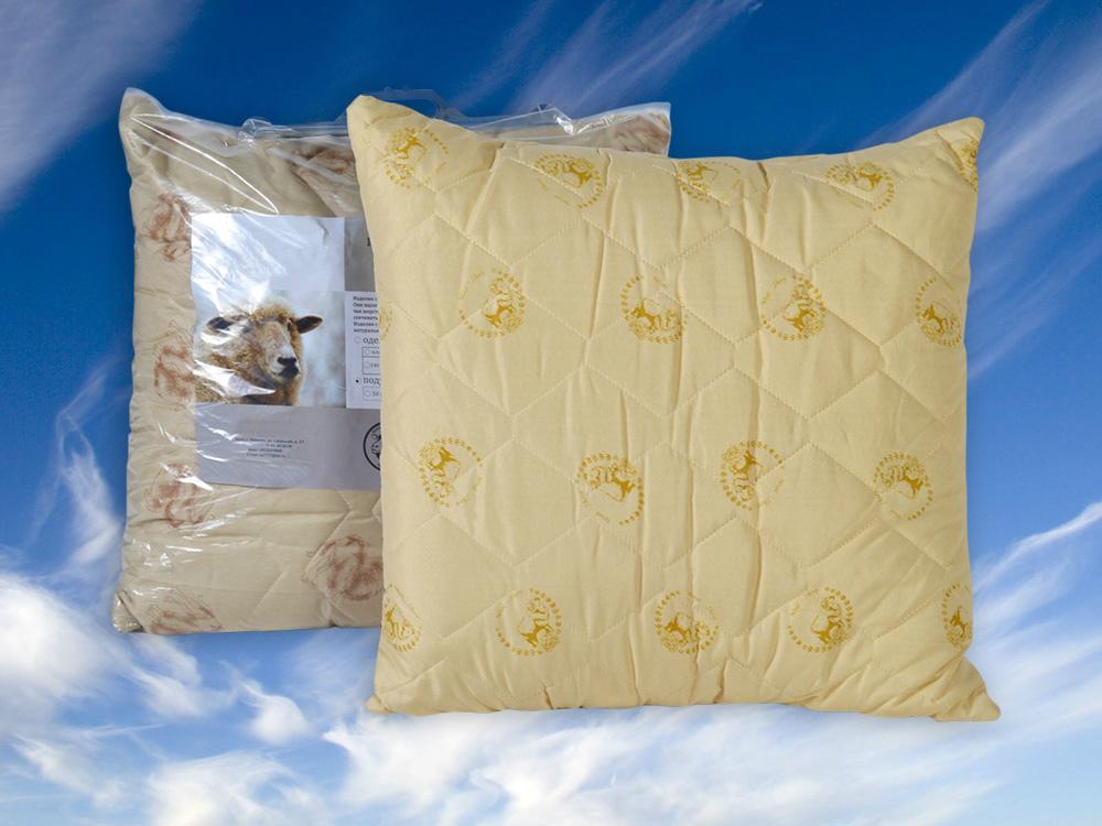 Подушка Овечка (овечья шерсть, полиэстер) (50*70) подушка вдохновение 50 70