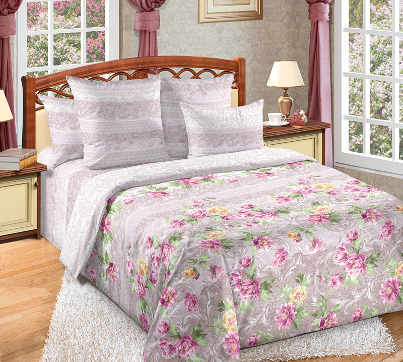 Постельное белье Елизавета (перкаль) (1,5 спальный) постельное белье унисон россини 15375 1 15376 1 комплект 2 спальный перкаль 450154