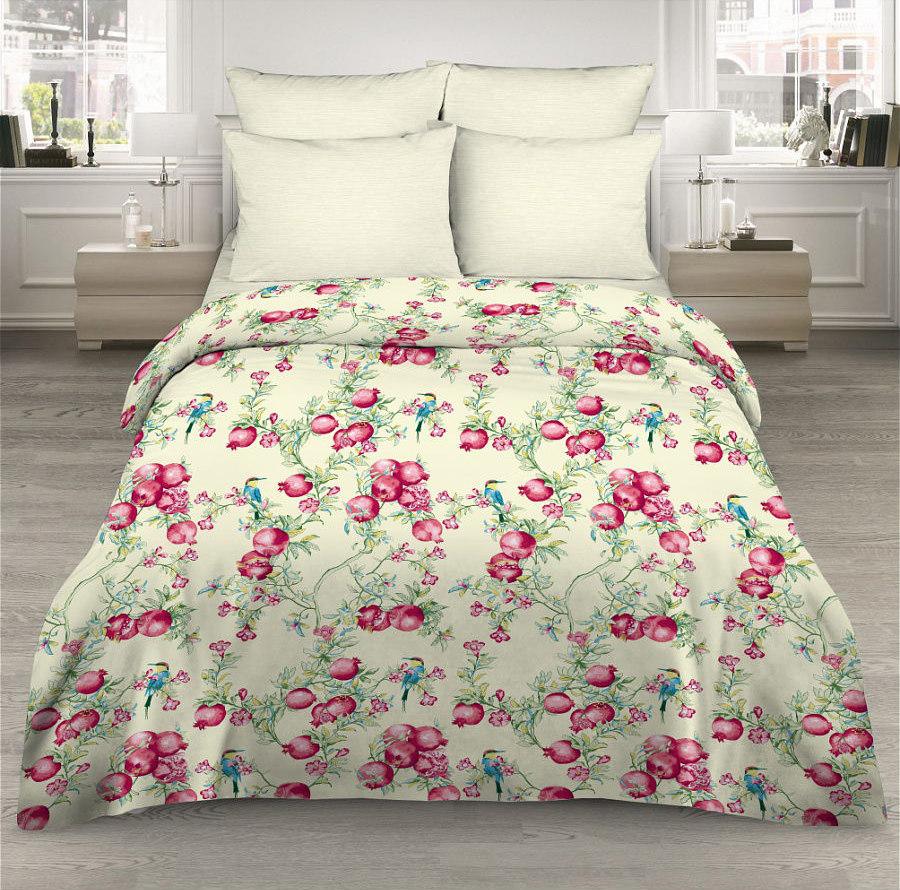 Фото - Постельное белье Ветка граната (поплин) (2 спальный с Евро простынёй) постельное белье неайполь поплин 2 спальный