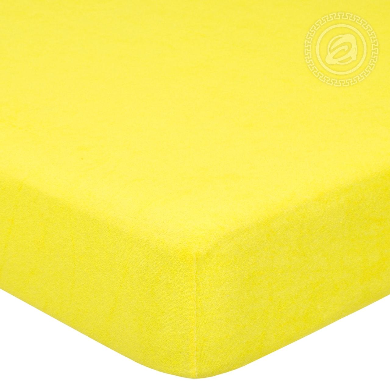 Простыня на резинке Лимон (махра) (60х120) простыня на резинке ирис размер 60х120 см