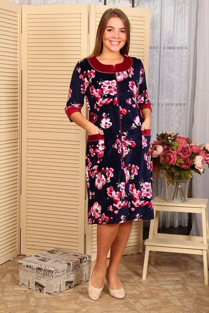Халат женский #Муза# 54, Размер: 54 - Халаты - Теплые халаты