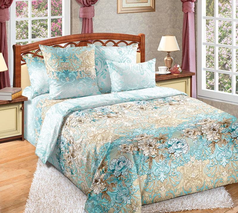 Постельное белье Вивьен (перкаль) (Семейный) постельное белье ласточкино гнездо перкаль семейный