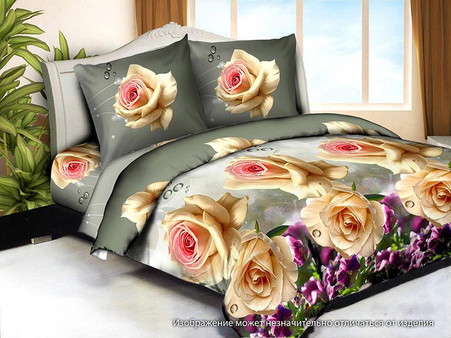 Постельное белье Розетта 3D (жатка) (1,5 спальный)