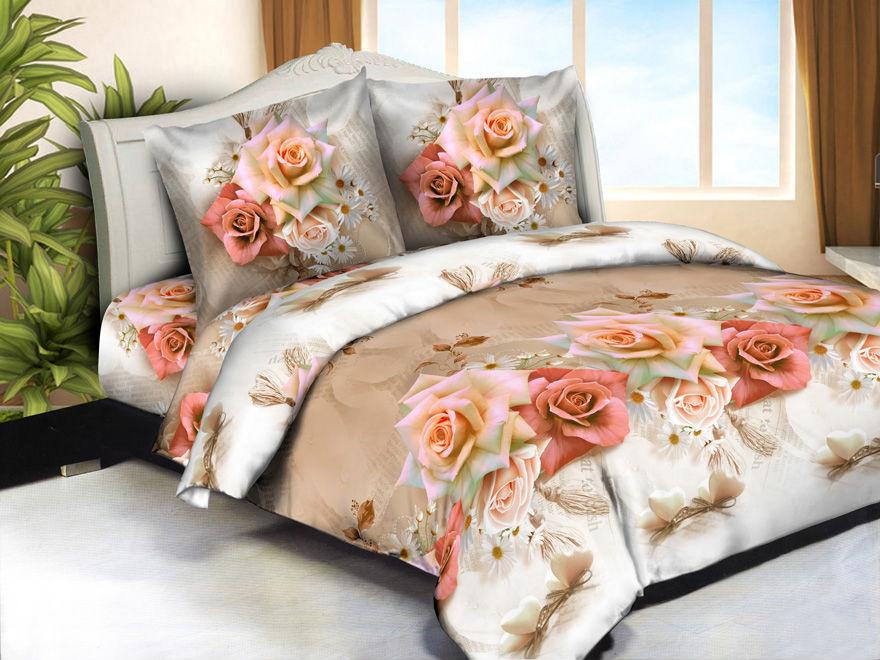 Постельное белье Нежность 3D (жатка) (1,5 спальный) постельное белье дария жатка 1 5 спальный
