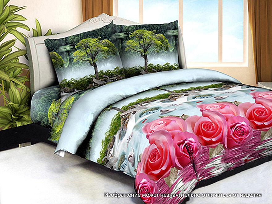 Постельное белье Райское 3D (жатка) (1,5 спальный)