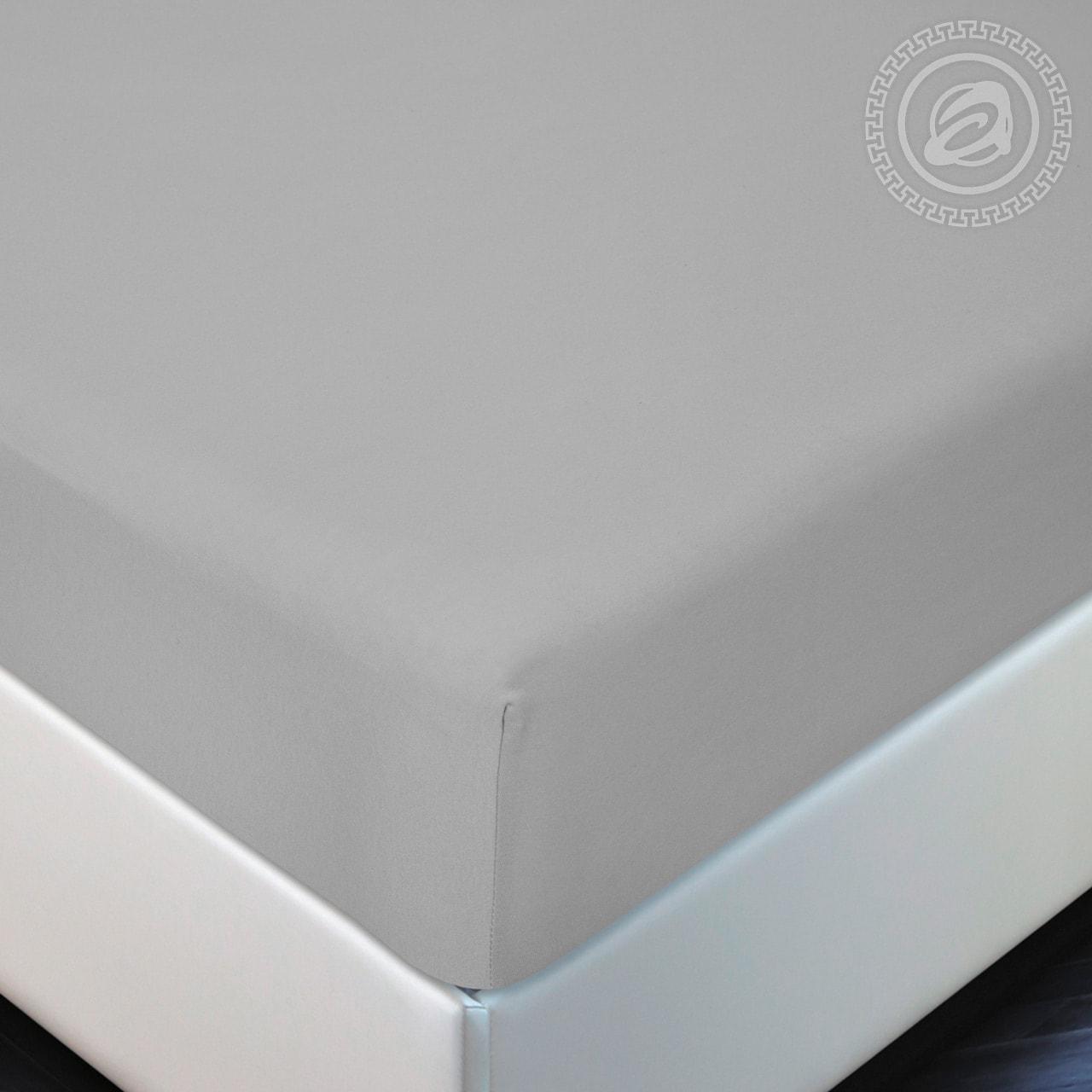 Простыня на резинке Серый (трикотаж) (90х200) простыни valtery простыня на резинке brant 90х200