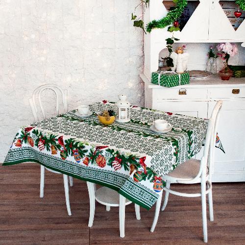 Скатерть столовая iv51822 (зеленая) (145*145)