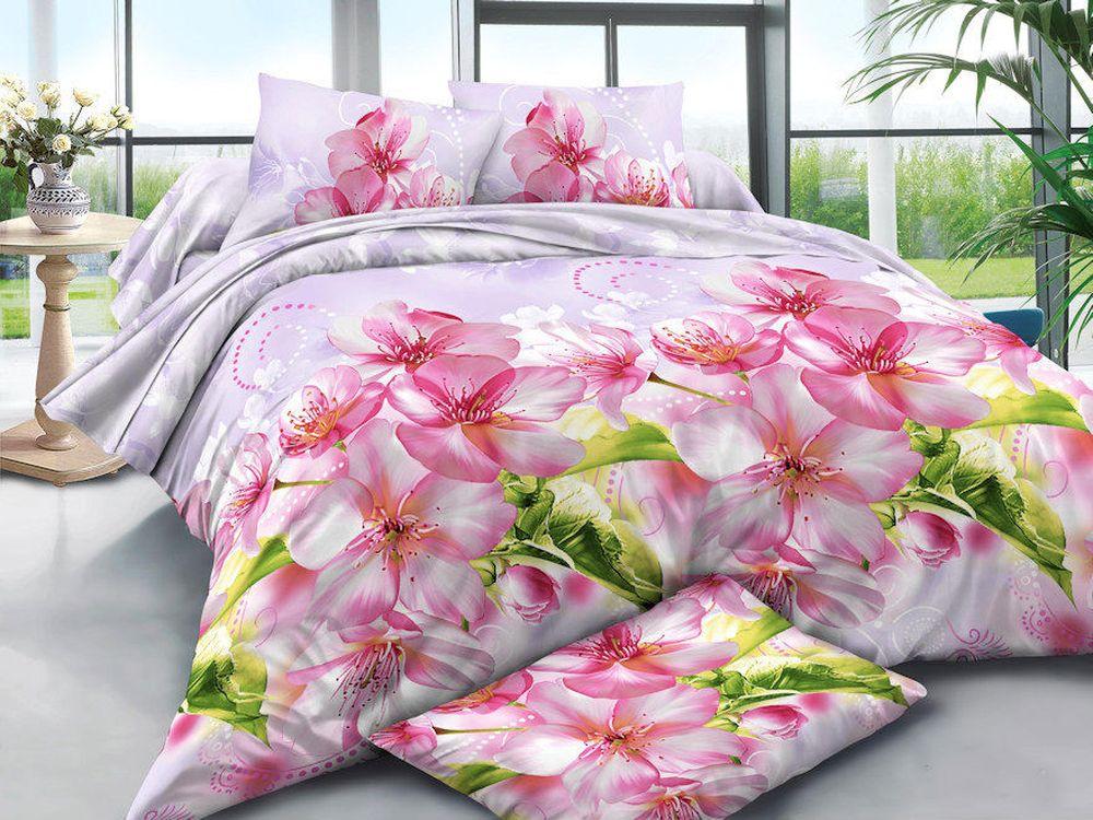 Постельное белье Орхидеи 3D (полисатин) (1,5 спальный) постельное белье король лев 3d полисатин