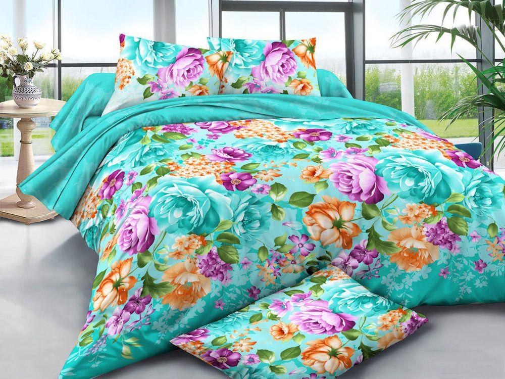 Постельное белье Цветущий сад 3D (полисатин) (1,5 спальный) постельное белье cleo кпб полисатин 246 1 5 спальный