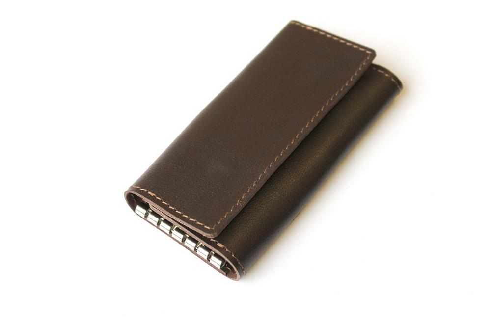 "Ключница кожаная ""Монако"" 6 ключей (коричневая) от Грандсток"