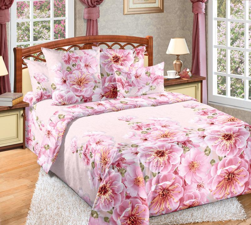 Постельное белье Миндаль розовый (перкаль) (Семейный) постельное белье ласточкино гнездо перкаль семейный