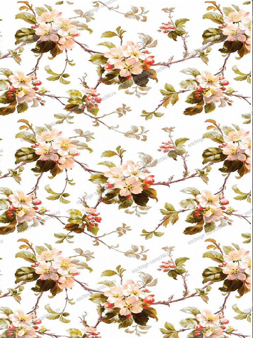 Скатерть столовая Яблоневый цвет (белый) (150*150) 150
