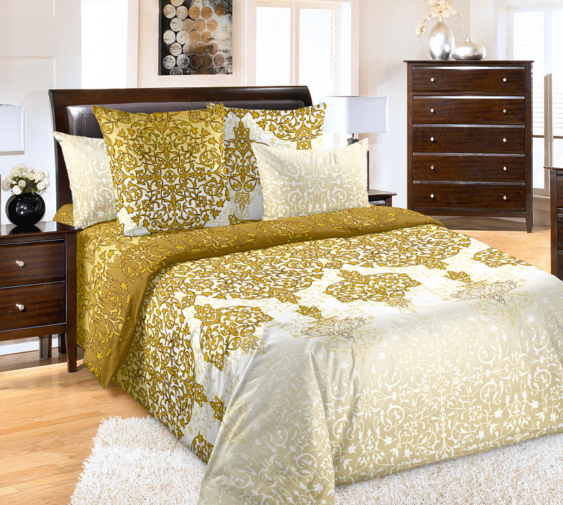 """Постельное белье """"Сновидение"""" коричневый (бязь) 2 спальный"""