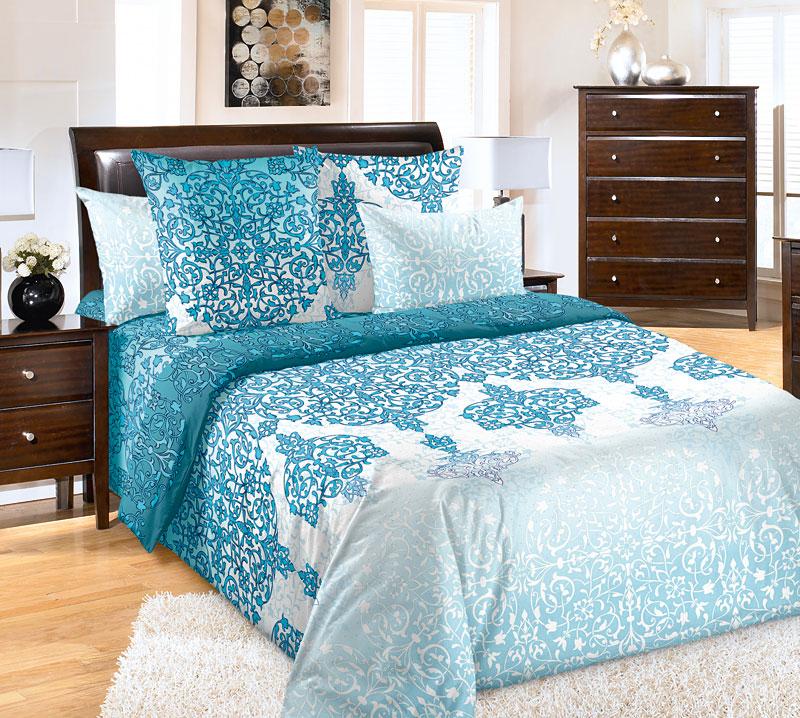Постельное белье Сновидение бирюзовый (перкаль) (2 спальный) постельное белье альба перкаль 2 спальный
